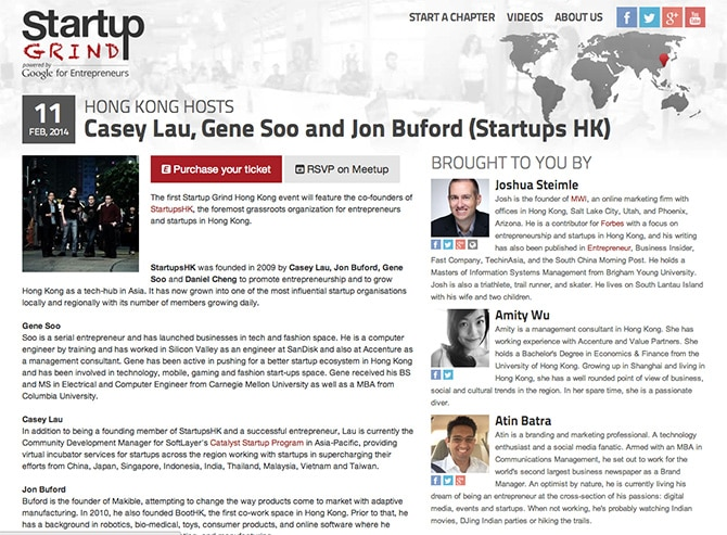How And Why I Got Involved With Startup Grind In Hong Kong | Josh