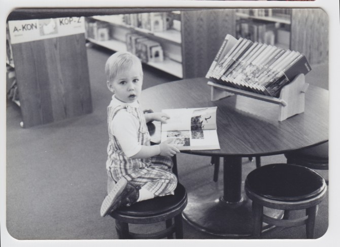 Me at the Arcadia, California library, circa 1978. Yeah, I used to be cute. What happened?