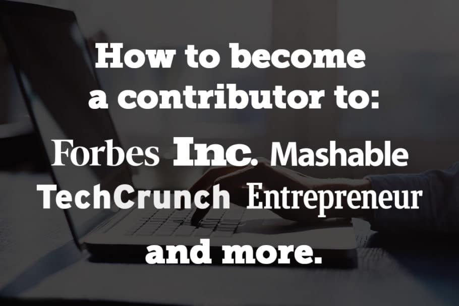 60 Contributors to Forbes, Entrepreneur, Inc , and More Tell